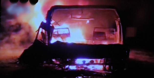 44 dead as bus catches fire in Andhra