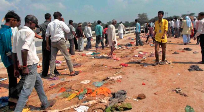 50 Uttar Pradesh people killed in MP stampede