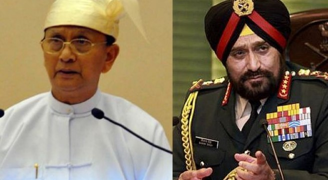 Myanmar president meets Indian Army chief
