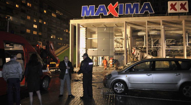 17 killed in Latvia supermarket roof collapse
