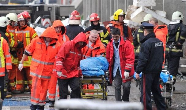 32 killed in Latvia supermarket roof collapse
