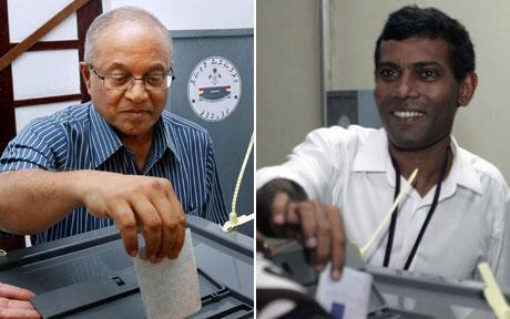 Maldives presidential candidate trio vote