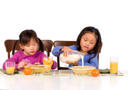 Bigger bowls make kids want more food