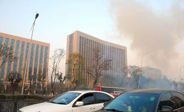 Blasts outside CPC office in China, one dead, 8Injured.