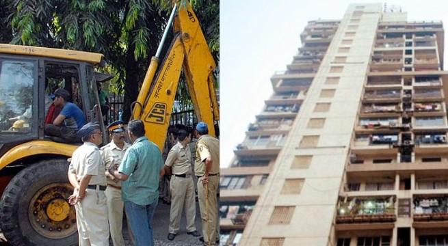 Bulldozers enter illegal Mumbai Campa cola Complex