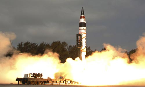 Agni - IV missile successfully test fired