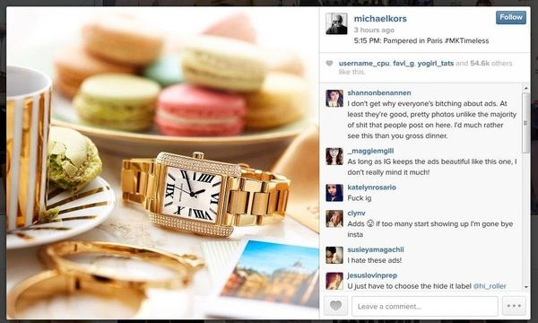 Instagram launches ads with Michael Kors' first sponsored post
