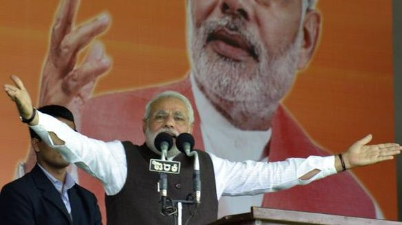 Congress divided the nation: Modi