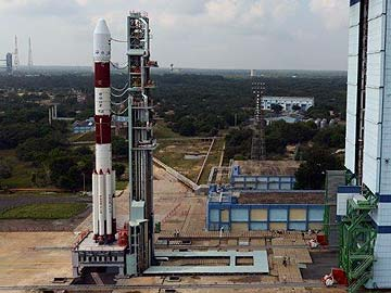 The rocket that will carry India's maiden mission to Mars, the Polar Satellite Launch Vehicle (PSLV) seen here in all its majesty on the launch pad.
