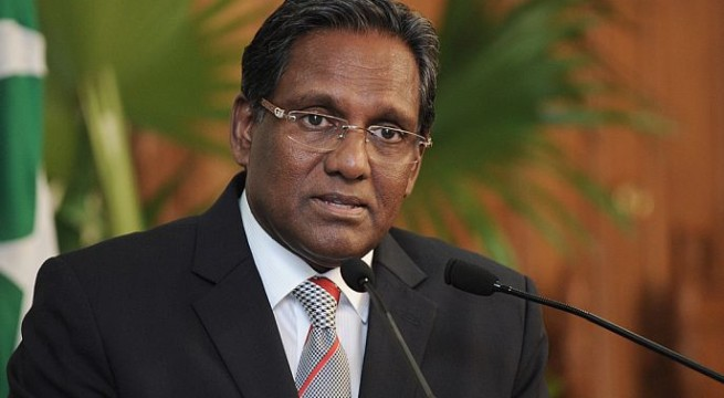 Maldives president warns against foreign interference