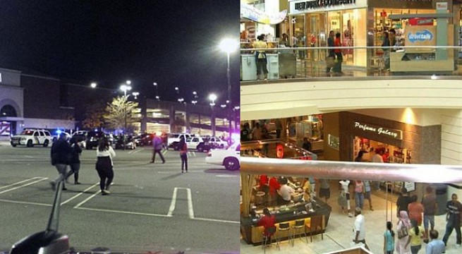 Multiple gun fired outside Garden State Plaza in New Jersey shopping centre .