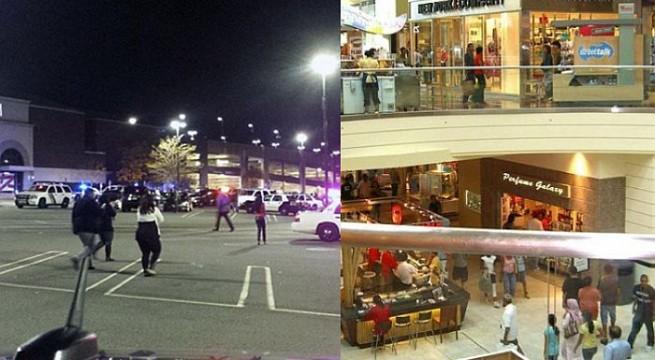 Multiple gun fired outside Garden State Plaza in New Jersey shopping centre .
