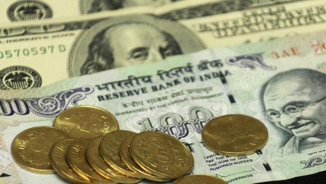 Rupee down 4 paise against dollar