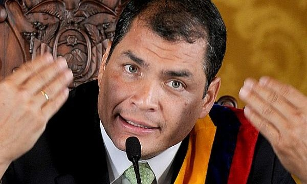 Ecuador president says UK violating Assange's human rights by holding him in country