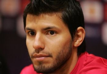 Aguero shrugs off suggestions to `go down more` by saying `he's bad at diving`