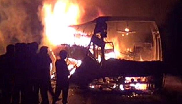 7 killed in Karnataka bus fire