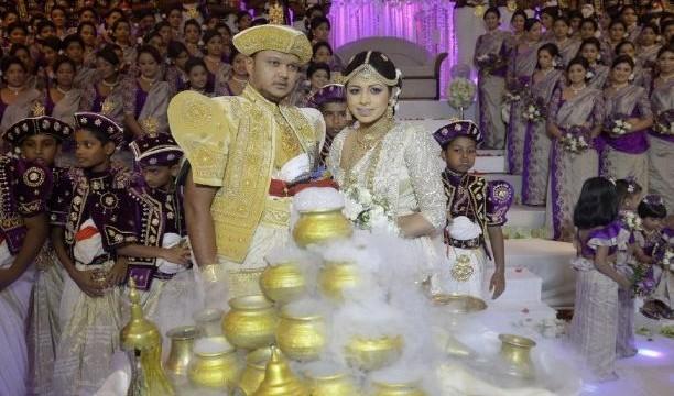 Sri Lankan couple set new world record with 126 bridesmaids at wedding