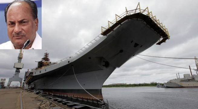 Antony compliments navy on INS Vikramaditya commissioning
