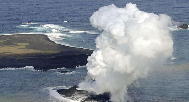 Volcano erupts to form new islet in Japan