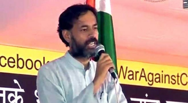 Yogendra Yadav backs Delhi CM Kejriwal, Bharti, justifies dharna
