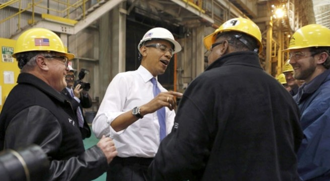 Obama cites ArcelorMittal's example for economic revival