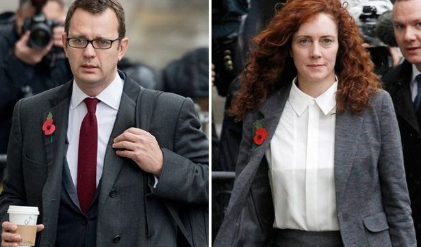 Phone hacking trial: Andy Coulson and Rebekah Brooks