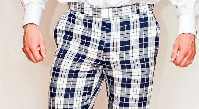 Stock up on party wear - white dress, tartan trousers