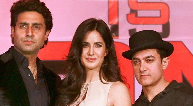 Aamir, Abhishek, Katrina and Uday promote 'Dhoom 3'