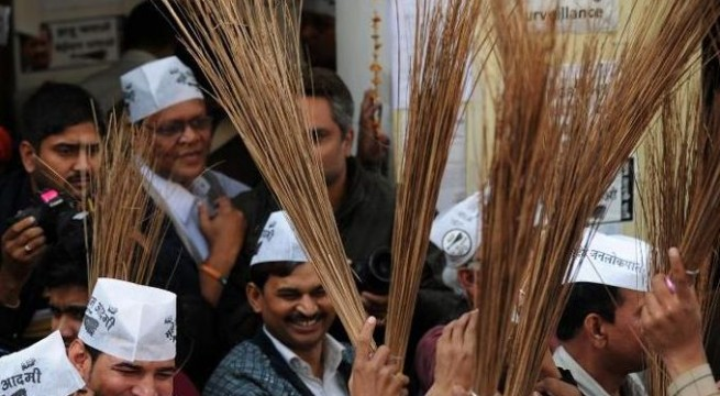 AAP poll sign