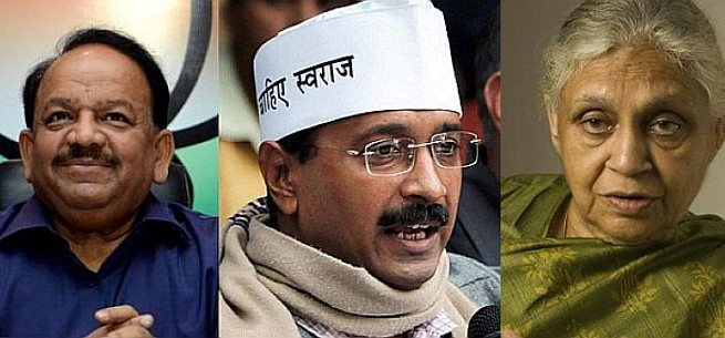 Kejriwal praises Harsh Vardhan, ignores Sheila Dikshit
