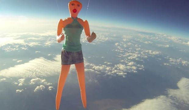 Inflatable sex doll launched into space