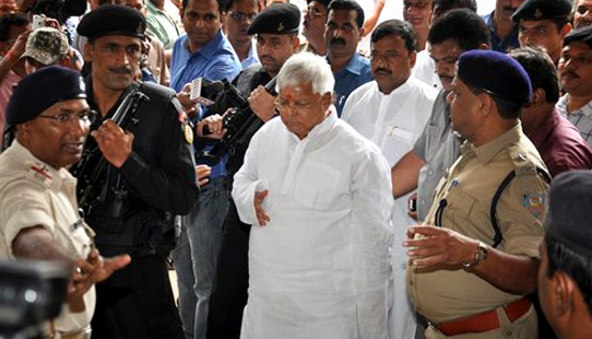 While exiting jail, Lalu Prasad, convicted of corruption, slams Lokpal Bill
