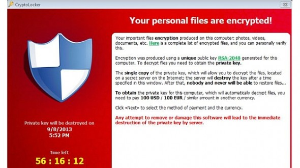 Locker` malware demands ransom to restore infected files