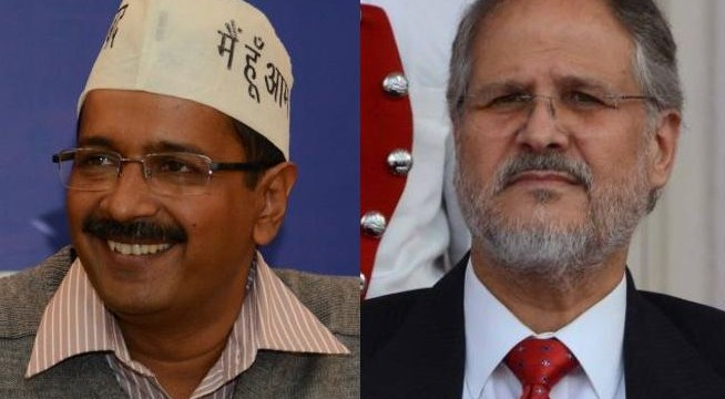 Kejriwal meets Lt Governor Najeeb Jung, stakes claim to form govt. in Delhi