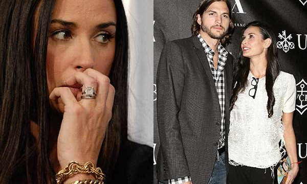 Moore sold Kutcher's engagement ring