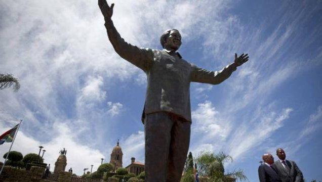 Zuma unveils giant Mandela statue