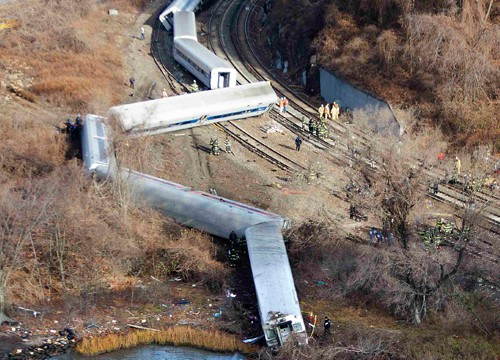 New York train crash: 'Speed a possible cause of Metro-North derailment'