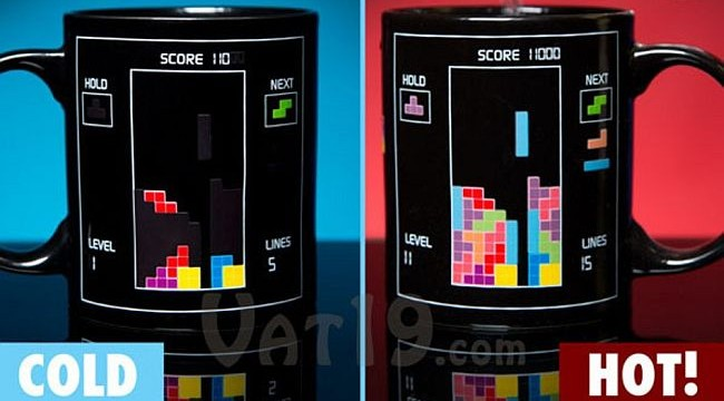 New heat changing mug shows up good old Tetris game when you pour hot coffee!
