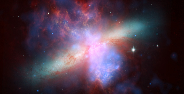 New pics of nearby starburst galaxy M82 may help reveal why stars form where they do