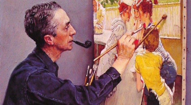 Norman Rockwell painting fetches record $46m at NYC auction