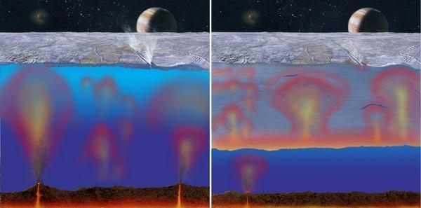 Ocean below Jupiter's moon Europa's icy shell may have heat, energy to sustain life