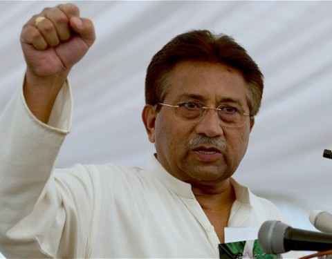Explosives found outside Musharraf's house