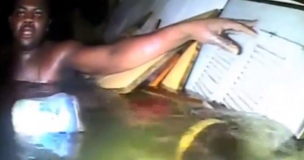 Rescue footage of man alive after 60 hours in sunken ship has emerged