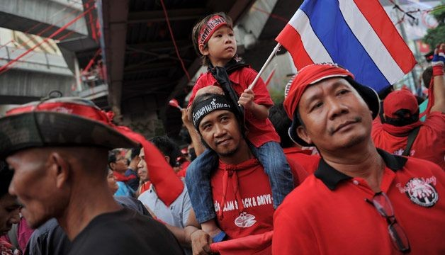 "Thai ""red shirts"" prepare rally to back PM against protesters"