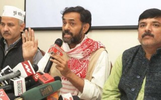 Unfair games being played between people and AAP: Yogendra Yadav