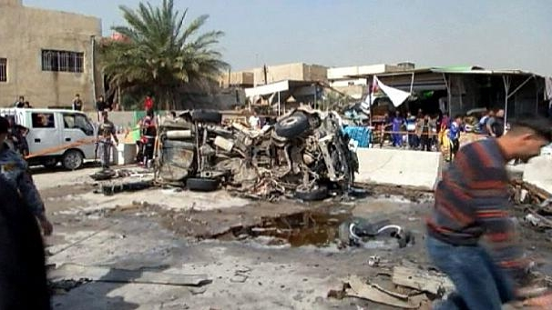22 killed as blasts target church, Christian area in Baghdad