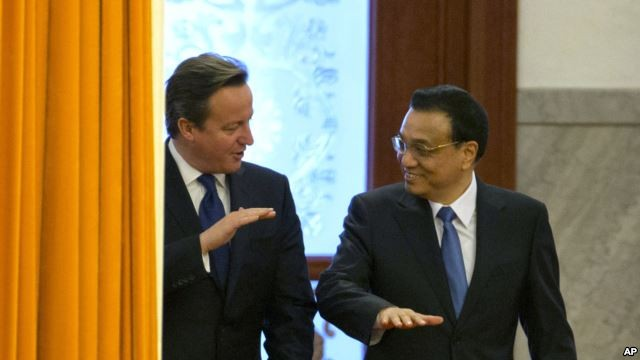 Britain's Cameron pushes EU free trade deal in China visit