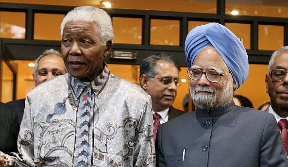 'A true Gandhian, a giant among men has passed away,' says PM on Mandela