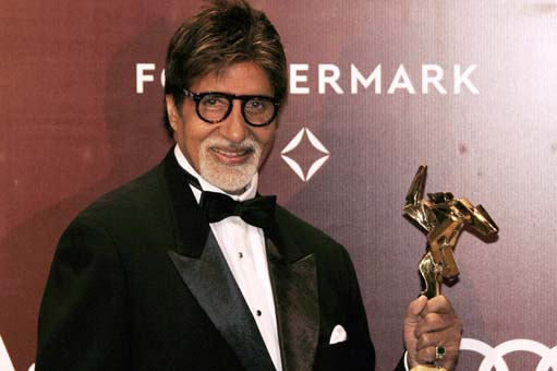 Bollywood Star Amitabh Bachchan received the Lifetime Achievement Award 2014
