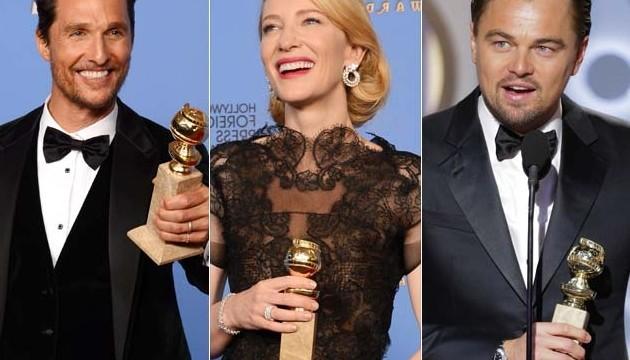 Golden Globes 2014 : Matthew McConaughey, Leonardo DiCaprio, Cate Blanchett win big